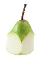 Cut Pear on White Background