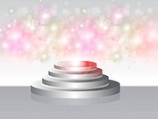 illustration of Stage with sparkles. Ai 10 eps file.All the effects are created with gradient mesh, glow, blending and transparency. Open the file onl...
