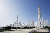 Whole complex of Sheikh Zayed Mosque in Abu Dhabi, United Arab Emirates, Middle East, Asia