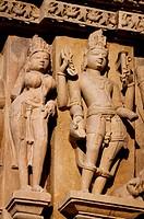 Decorative sculptures, Hindu deities, Khajuraho Group of Monuments, UNESCO World Heritage Site, Madhya Pradesh, India, Asia