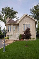 Residential home with landscaped front yard, Quebec, Canada