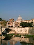 Roma, River Tevere and Vatican City.