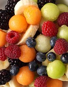 Fruit Bowl.Mixture of fruit served for breakfast