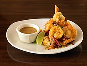Prawns.An appetizer of shrimp prawns