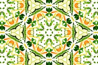 A kaleidoscope image of fresh vegetables.Good karma and well being from a healthy diet