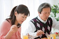 Mature Couple Having Lunch