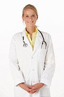 Female medical professional in studio
