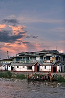 Typical Homes, Nyaungshwe, Lake Inle, Shan State, Myanmar, Burma, Asia