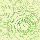 Abstract background of green colour with spirals