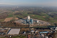 Aerial view, EON Datteln 4, coal_fired power plant, Datteln, Ruhr area, North Rhine_Westphalia, Germany, Europe