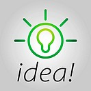Modern bulb icon symbolising bright ideas in a simple form