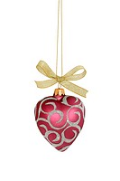 Christmas ball isolated / with clipping path / heart