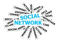 This image for business and social network concept.