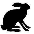 illustration hare isolated on white background