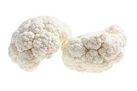 Cauliflower on Isolated White Background