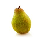 Fresh pear in the studio isolated over white