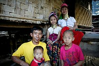 A Longneck family living in the refugee camp Approximately 300 Burmese refugees in Thailand are members of the indigenous group known as the Longnecks...