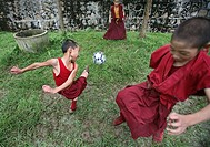 Tibetan monks in Kathmandu, Nepal The majority of monks in Nepal are refugees from Tibet and live in monasteries in Nepal Monks playing football