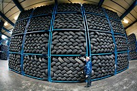 Recycling of tyres The best are stored and shipped to third world countries the bad tires are shredded into granulate and processed for different purp...