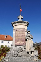 War memorial, Evillers, Pontarlier, departement of Doubs, Franche_Comte, France, Europe, PublicGround