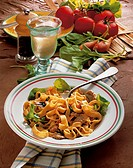 Pasta with veal, Italy, recipe available for a fee
