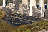 Aerial view, Scholven power plant, E.ON coal_fired power plant, Gelsenkirchen_Buer, Ruhr Area, North Rhine_Westphalia, Germany, Europe