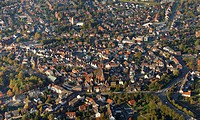 Aerial view, town centre, Haltern am See, Ruhr Area, North Rhine_Westphalia, Germany, Europe