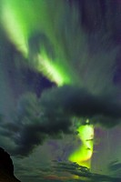 Northern Lights, Southern Iceland, Iceland, Europe.