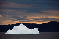 iceberg in Saglek Fiord, Torngat Mountains, Labrador, Canada