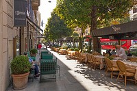 pavement cafes on the Via Vittorio Veneto in Rome