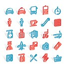 Airport, travel and transportation icons _ vector icon set