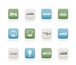 Travel and transportation of people icons _ vector icon set