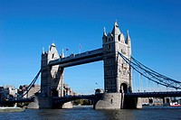 The Tower Bridge on the river Thames, London