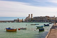 Boats in the port of Molfetta, Apulia, Puglia, Southern Italy, Italy, Europe