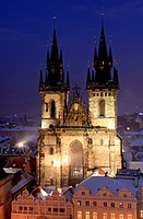 Old cathedral in Prague. Virgin Mary
