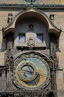 Astronomical Clock on the tower of the Old Town Hall, Old Town Square, historic district, Prague, Bohemia, Czech Republic, Europe