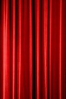 Red stage curtain, background texture with copyspace