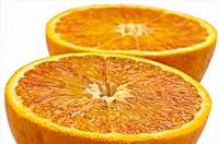 closeup of a blood orange