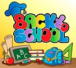 Back to school topic 1 _ color illustration.