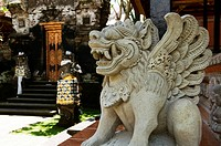 Stone Carving at Ubud Palace or Puri Saren, Bali, Indonesia.
