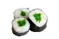 Sushi rolls isolated on the white background
