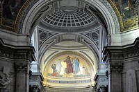 Interior, National Hall of Fame Panthéon, Montagne Sainte-Genevieve, Paris, France, Europe