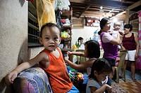 Filipino family together at home  Lapu-Lapu City, Metro Cebu, Mactan Island, Visayas, Philippines