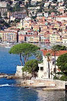 The Cap Ferrat and Villefranche-sur-Mer in the background, Alpes-Maritimes, French riviera, Provence-Alpes-C&#244;te d'Azur, France