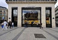 Cartier, luxury goods shop, Champs_Élysées, Paris, France, Europe, PublicGround
