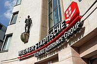 Wiener Staedtische Vienna Insurance Group sign, Salzburg, Austria, Europe