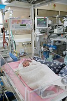 Photo essay at Rouen hospital in France. Department of Neonatology.