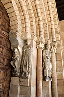 Detail of sculpture home, Basilica of San Vicente, Avila, Castile and Leon, Spain, Europe