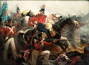 Death of General Ross at Battle of Baltimore, 1814. Created by Chappel, Alonzo, 1828_1887