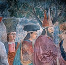 Legend of the Cross Exaltation of the Cross, by Pietro di Benedetto dei Franceschi known as Piero della Francesca, 1452 _ 1462 about, 15th Century, fr...